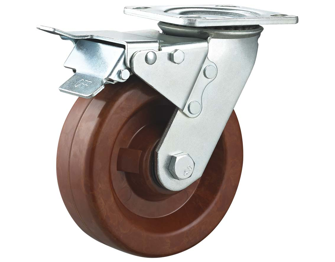 High Temperature Phenolic Wheel Swivel Plate with Total